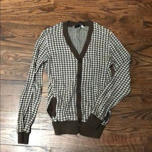 Urban Outfitters houndstooth cardigan